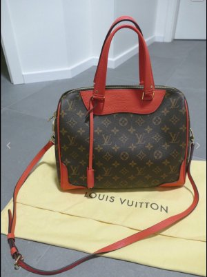 Louis Vuitton Sac rouge fluo-brun