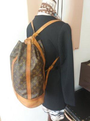 Louis Vuitton Mochila color bronce-marrón oscuro