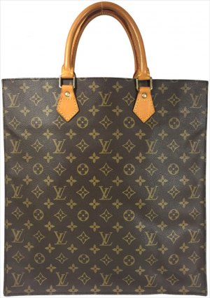 LOUIS VUITTON SAC PLAT HENKELTASCHE AUS MONOGRAM CANVAS