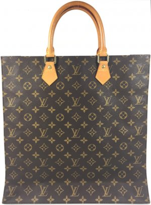 Louis Vuitton Sac Plat Monogram Canvas Tasche Handtasche