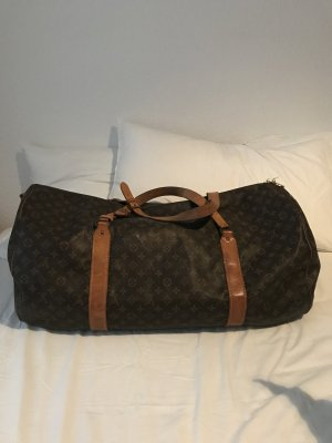 Louis Vuitton Weekendtas brons-beige Leer