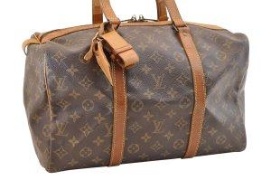 Louis Vuitton Bagage bruin Textielvezel