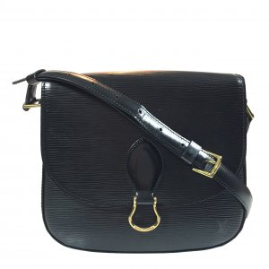 Louis Vuitton Crossbody bag black-gold-colored leather