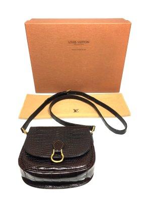 Louis Vuitton Sac bandoulière brun foncé-doré reptiles