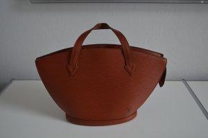 LOUIS VUITTON Saint-Jacques Hand Bag Braun Epi Leather