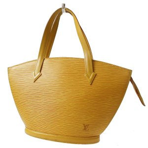 LOUIS VUITTON Saint-Jacques Hand Bag Yellow Epi Leather