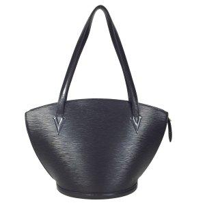 Louis Vuitton Saint Jaques Epi Leder Schwarz Tasche Handtasche Shopper
