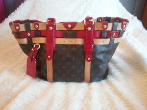 Louis Vuitton Sac Baril brun noir-rouge brique