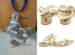Louis Vuitton Sandales blanc-doré