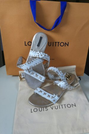 Louis Vuitton Sandals white-gold-colored