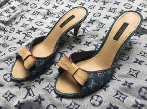 Louis Vuitton Mules beige-blue