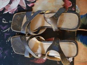 Louis Vuitton Sandalias de tacón alto marrón claro-marrón