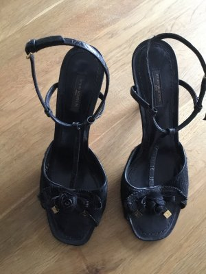 Louis Vuitton Strapped High-Heeled Sandals black