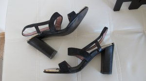 Louis Vuitton Strapped High-Heeled Sandals black-silver-colored