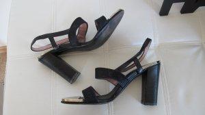 LOUIS VUITTON Sandaletten schwarz  Gr.36 mit Metallbeschlägen
