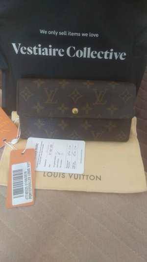 Louis Vuitton Cartera marrón arena-marrón