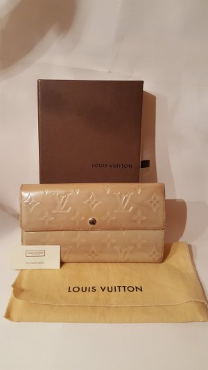Louis Vuitton Cartera beige claro