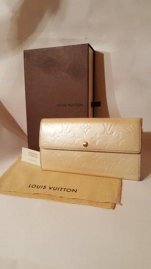 Louis Vuitton Portemonnee room-zilver Leer