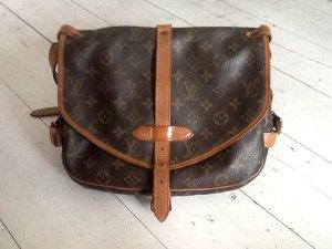 Louis Vuitton Sac brun-brun noir