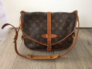 Louis Vuitton Bolsa de hombro color bronce Cuero