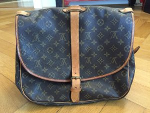 Louis Vuitton Borsa a spalla marrone Lino