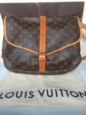 Louis Vuitton Borsa a spalla bronzo-sabbia Pelle