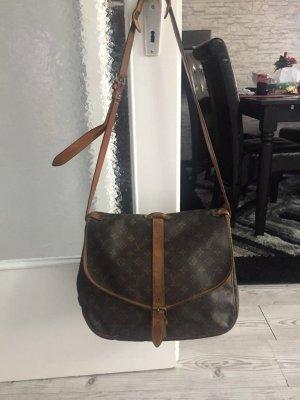Louis Vuitton Sac bandoulière brun foncé-brun tissu mixte