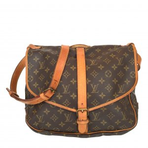 LOUIS VUITTON SAUMUR 35 UMHÄNGETASCHE AUS MONOGRAM CANVAS