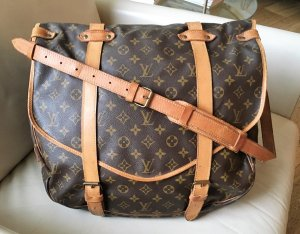 "* LOUIS VUITTON *  "" SAUMUR 43 Messenger Monogram Canvas "" - XL Doppel Tasche Reise  Weekender ! RARE !"