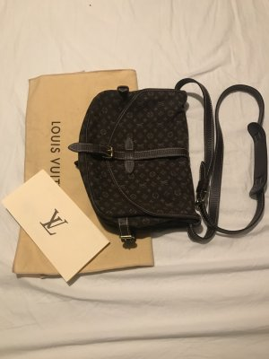 Louis Vuitton Crossbody bag dark brown-cognac-coloured linen