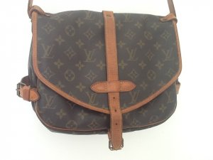 Louis Vuitton Borsetta bronzo-marrone
