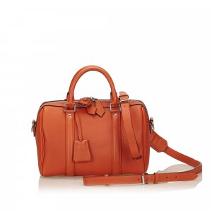 Louis Vuitton Sac à main orange cuir