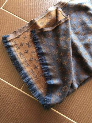 Louis Vuitton Bufanda azul-marrón
