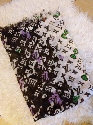 Louis Vuitton Sjaal met franjes bruin