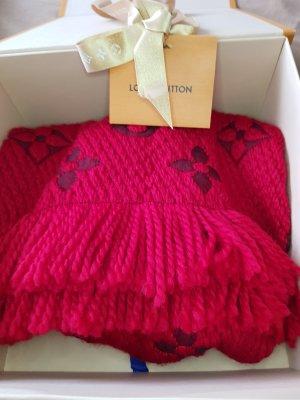 Louis Vuitton Écharpe en laine rouge-rouge foncé
