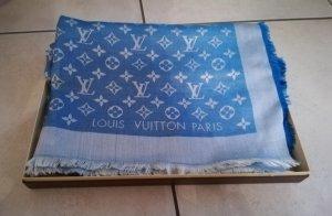 Louis Vuitton Zijden sjaal neon blauw-wit Zijde