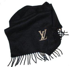 Louis Vuitton Bufanda de cachemir negro Cachemir