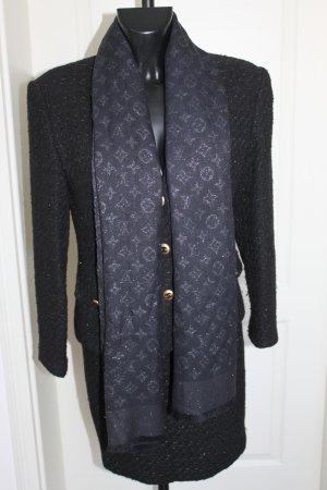 Louis Vuitton Schal Wolle Schwarz Silber Lurex top Zustand 170 x 65 cm