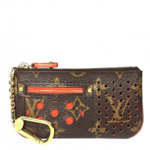 Louis Vuitton Schlüsseletui Monogram Perforated Canvas Orange Anhänger