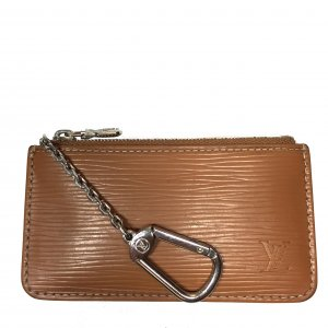 Louis Vuitton Key Chain light brown-silver-colored leather