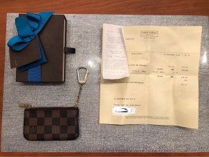 Louis Vuitton, Schlüsseletui, Pochette Damier Canvas