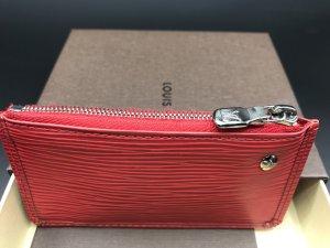 Louis Vuitton Schlüsselmäppchen / Schlüsseletui aus Epi Leder in Fuchsie / Rot