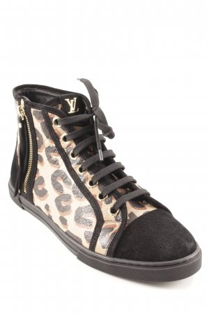 Louis Vuitton Chaussures à lacets motif léopard imprimé animal
