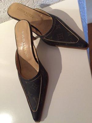 Louis Vuitton Mule chameau cuir