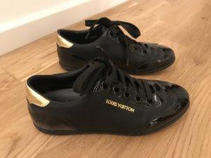 Louis Vuitton Sneakers met veters zwart-goud