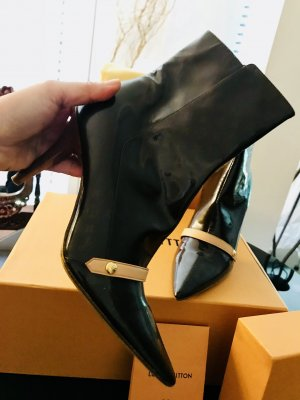 Louis Vuitton Bottines à fermeture éclair bronze-noir cuir