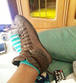 Louis Vuitton Heel Sneakers bronze-colored-light brown