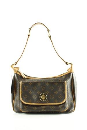 Louis Vuitton Schultertasche braun-blassgelb Allover-Druck Business-Look