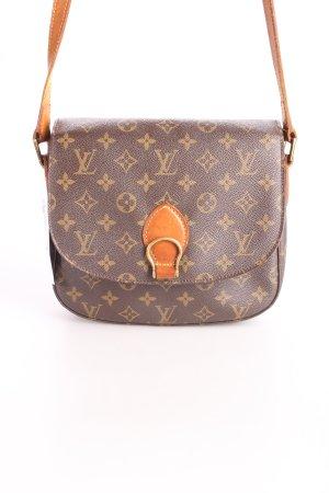 Louis Vuitton Schultertasche dunkelbraun-hellbraun Monogram-Muster Casual-Look