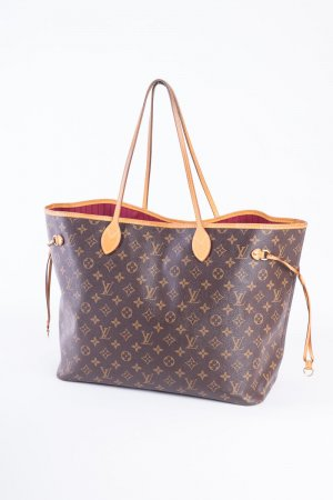 LOUIS VUITTON - Schultertasche Neverfull GM Monogram Canvas Pivoine (mit Staubbeutel)